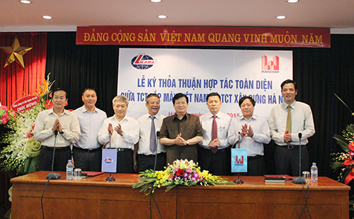 Bộ trưởng Bộ Xây dựng Trịnh Đình Dũng tại lễ ký thoả thuận hợp tác toàn diện giữa Lilama và Hancorp.