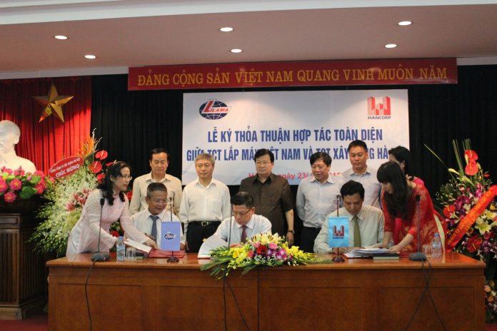 Hợp tác toàn diện giữa Tổng công ty Xây dựng Hà Nội và Tổng công ty Lắp máy Việt Nam