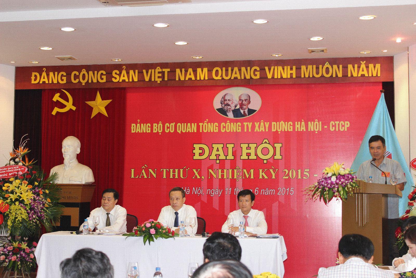 Đ/c Nghiêm Sĩ Minh – Bí thư Đảng ủy, Thành viên HĐQT TCT phát biểu chỉ đạo Đại hội