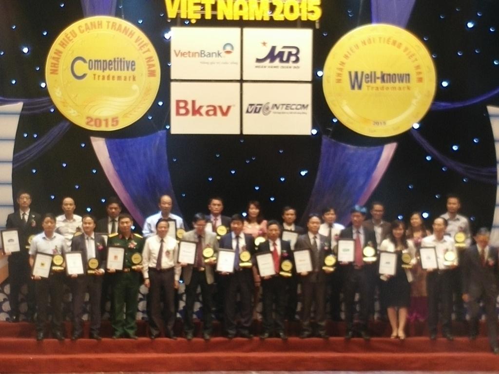 HANCORP đạt danh hiệu Top 20 Nhãn hiệu nổi tiếng 2015