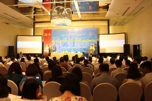Toàn cảnh Đại hội đồng Cổ đông thường niên 2017 của Tổng công ty Xây dựng Hà Nội – CTCP (Hancorp) ngày 12/5/2017.