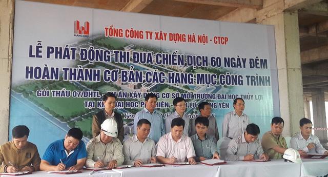 """Hancorp tổ chức lễ phát động thi đua tại công trình của gói thầu 07/ĐHTL"""""""