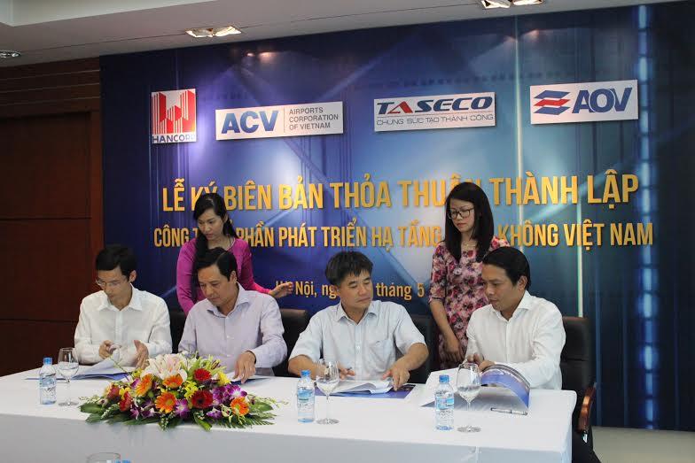 Lễ ký kết biên bản thoả thuận thành lập Công ty Cổ phần phát triển Hạ tầng Hàng không Việt Nam