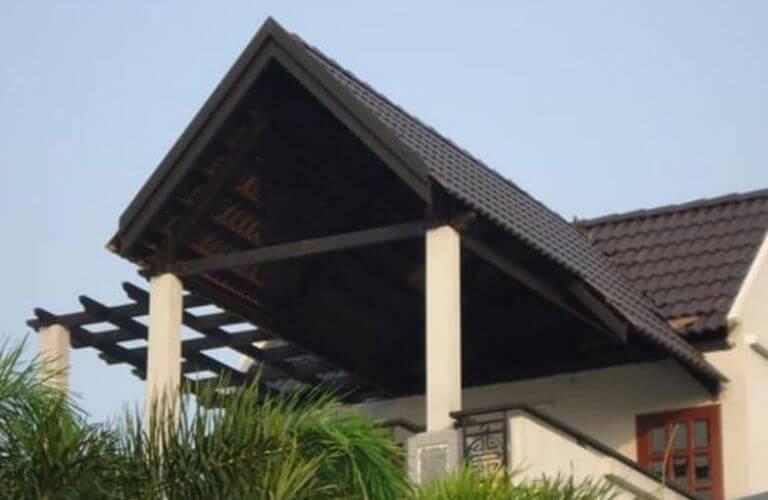 Mái che sân thượng ở dạng ngói