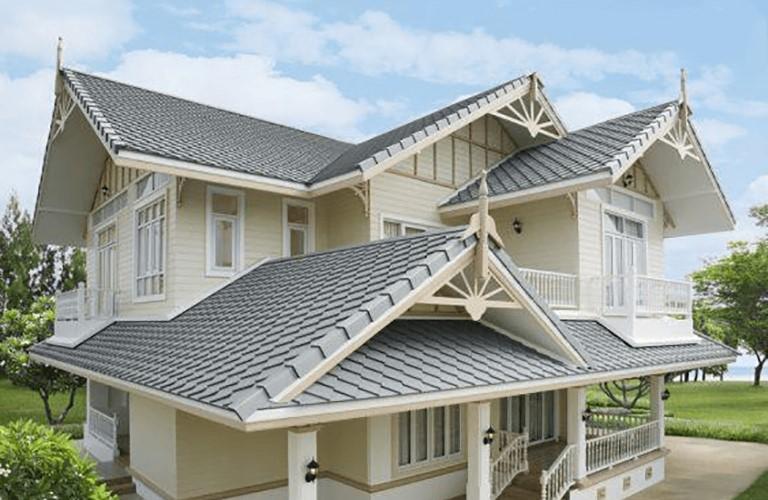 Mái che sân thượng bằng ngói bê tông